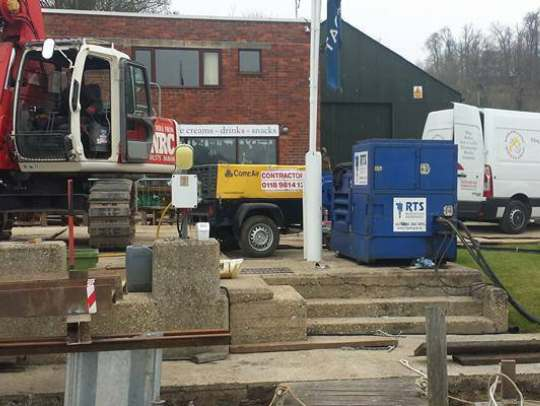 River and Canal Services Ltd for dredging in Camberley, Surrey